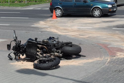Crashed motorcycle in Gdansk 98821